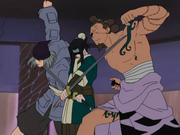Haku detiene a Zōri y Waraji