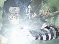 Sasuke chidori vs Gaara