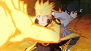 Sasuke surpreende Naruto