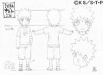 Diseño de Naruto en la niñez I por Pierrot