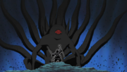 Hagoromo diante do Dez-Caudas