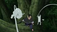 Sasuke VS Criações de Deidara