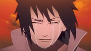 Sasuke llorando por la muerte de Itachi