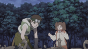 Wasabi e Namida procurando os pássaros infectados