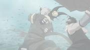 Haku es cortado por Zabuza