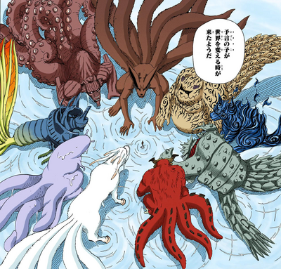 Las Bestias con Cola aparecen dentro de Naruto Manga