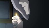 Mitsuki utilizando un haori con capucha