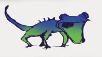 Super Beast Imitating Drawing Lizard