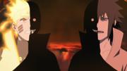 Zetsu Negro poseyendo a Naruto y Sasuke