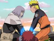 Chiyo et Naruto ressuscitant Gaara