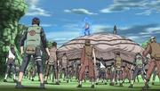 El Segundo Mizukage y el Tercer Raikage atacan a la Cuarta División