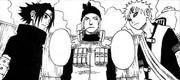 Sasuke e Gaara se preparam para a luta