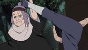 Chiyo deteniendo un ataque de Escorpión