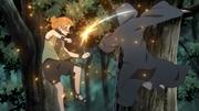Moegi lutando contra Suigetsu