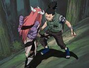 Tayuya aux prises avec Shikamaru