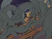Hashirama usando el Elemento Madera