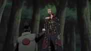 Shikamaru derrotando a Hidan