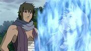 Yukimaru comienza a usar el Chakra del Tres Colas Liberación