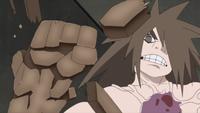 Liberação de Terra - Técnica do Punho de Rocha (Kū - Anime)
