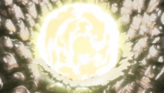 Deidara attacks Sunagakure