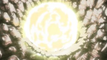 The bomb's detonation.