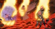 El Equipo Kakashi y Garuda son salvados por Naruto