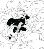Kawaki protege Naruto e Himawari