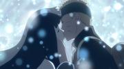 Naruto y Hinata profesando su amor con un apasionado beso