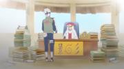 Obito e Kakashi na Residência Hokage