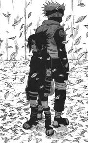 Sasuke e Kakashi chegam
