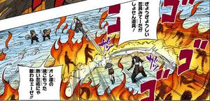 Estilo de la Nube Llamas Cortantes Manga