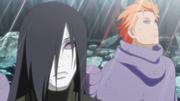 Orochimaru y Jūgo son atrapados dentro del Tsukuyomi Infinito