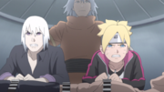 Tosaka Injecting Boruto and Suigetsu