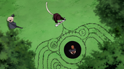 Kabuto demostrándole a Tobi el funcionamiento del Edo Tensei