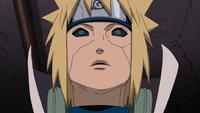 Minato sente o Chakra de Naruto e Kurama