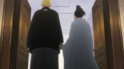 Naruto y Hinata parten para dar comienzo a la boda
