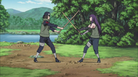 Yugao e Hayate treinando