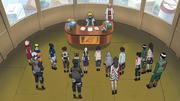 Minato reunido com todos genin e jōnin