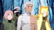 Obito, Naruto, Sakura e Kakashi