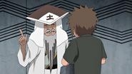 Primeiro Tsuchikage conversando com Onoki