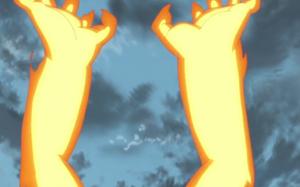 Brazos de Chakra de Bestia con Cola Anime