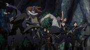 Kabuto avança seus Edo contra os guardas