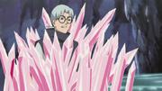 Kabuto es atrapado por el elemento de cristal de Guren