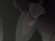 Le père de Haku en pleurs