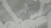 Naruto golpea al Cangrejo Gigante con su Rasengan