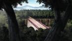 Puente Kannabi antes de su destruccion
