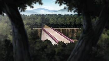 El puente antes de ser destruído