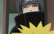 Naruto se encuentra por primera vez con Itachi