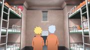 Boruto e Mitsuki chegam à cela