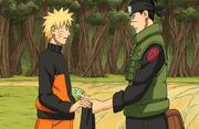 Iruka entrega bandana para Naruto Mangá